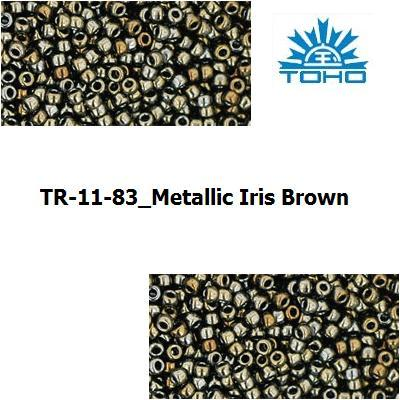 TOHO 11/0 Metallic Iris Brown (83), 10 g