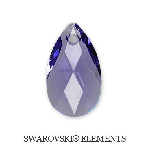Pear - Tanzanite - 16 mm, 1 ks