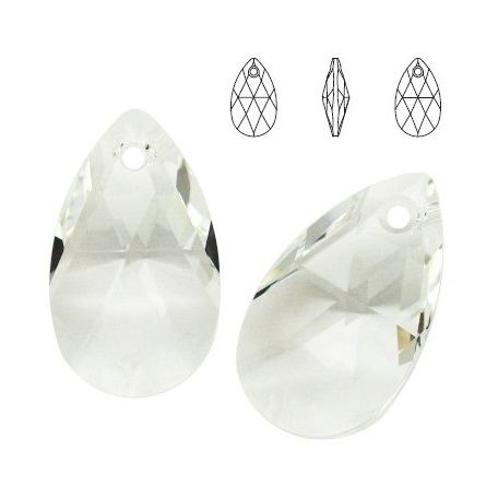 Pear - Crystal - 16 mm, 1 ks