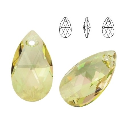 Pear - Crystal Luminous Green - 16 mm, 1 ks
