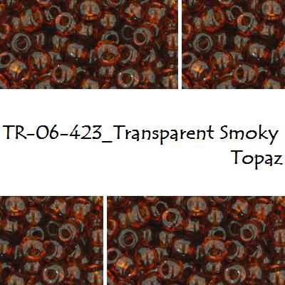 TOHO 6/0 Transparent Smoky Topaz (423), 10 g