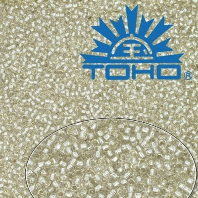 TOHO 6/0 Silver-Lined Crystal (21), 10 g