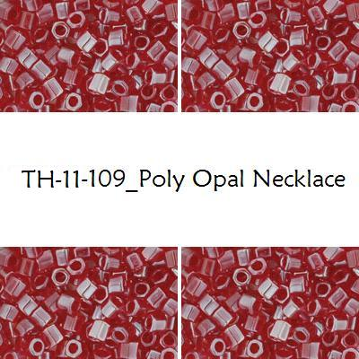 TOHO Hex 11/0 Poly Opal Necklace (109), 10 g