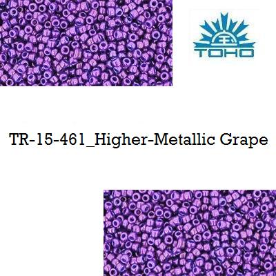 TOHO 15/0 Higher-Metallic Grape (461), 5 g