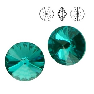 Rivoli – Blue Zircon Foiled – 8 mm, 2 ks
