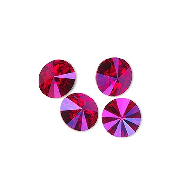 Rivoli – Light Siam Astral Pink Foiled – 12 mm