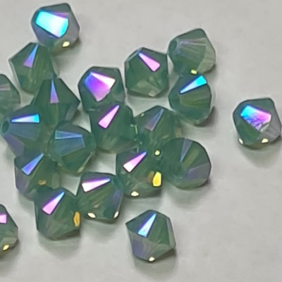 Xilion Bicone - Pacific Opal Shimmer 2x - 4 mm, 20 ks