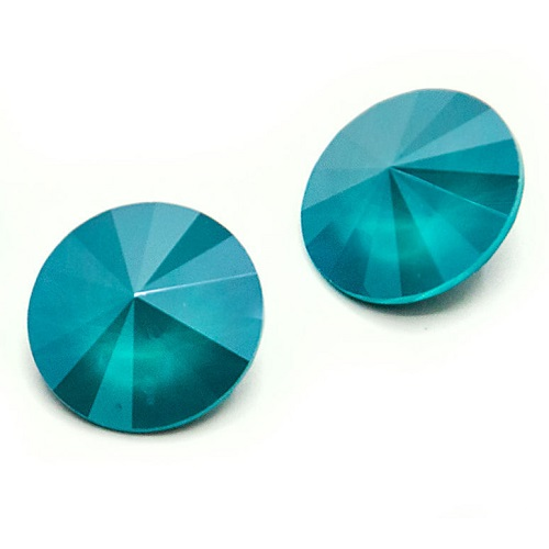 Rivoli – Crystal Azure Blue – 8 mm, 2 ks