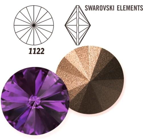 Rivoli – Amethyst Foiled – 6 mm, 2 ks