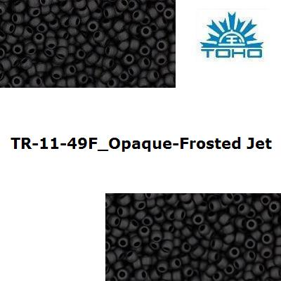 TOHO 11/0 Opaque-Frosted Jet (49F), 10 g