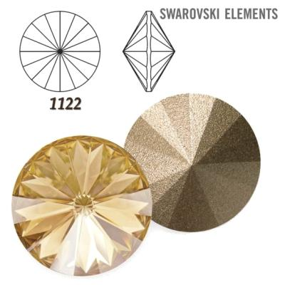 Rivoli – Crystal Golden Shadow Foiled – 8 mm, 2 ks