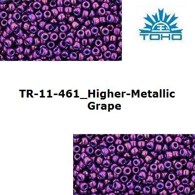 TOHO 11/0 Higher-Metallic Grape (461), 10 g
