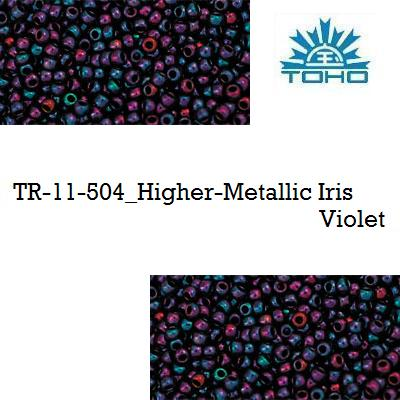 TOHO 11/0 Higher-Metallic Iris Violet (504), 10 g