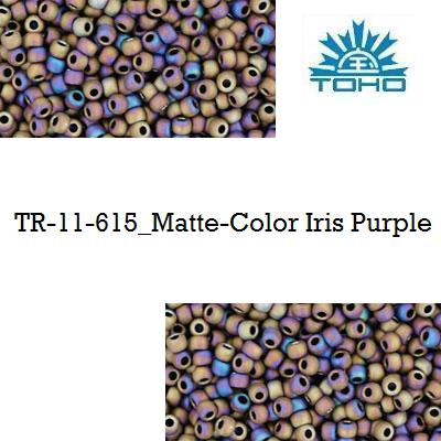 TOHO 11/0 Matte-Color Iris Purple (615), 10 g