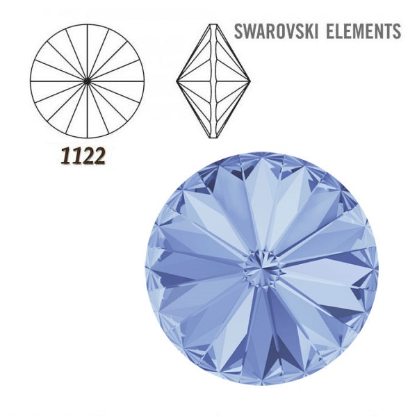 Rivoli – Light Sapphire Foiled – 8 mm, 2 ks