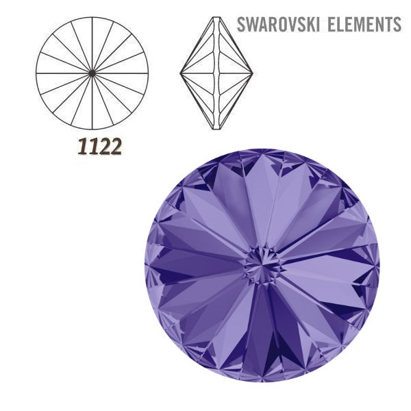 Rivoli – Tanzanite Foiled – 14 mm