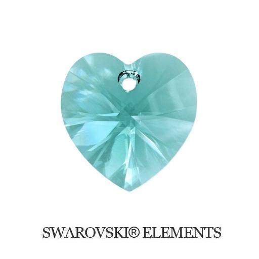 Heart - Light Turquoise - 14,4x14 mm, 1 ks