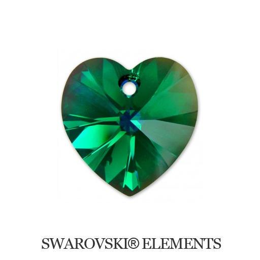 Heart - Emerald AB - 14,4x14 mm, 1 ks