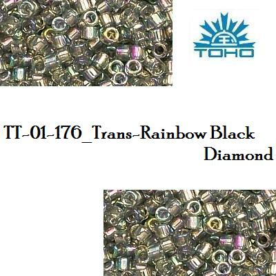 TOHO TREASURE 11/0 Trans-Rainbow Black Diamond (176), 5 g
