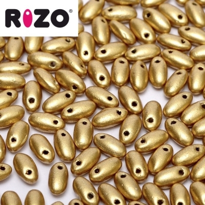 RIZO 2,5x6 mm - Matte Metallic Aztec Gold (01720AL), 10 g