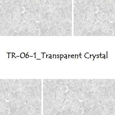TOHO 6/0 Transparent Crystal (1), 10 g