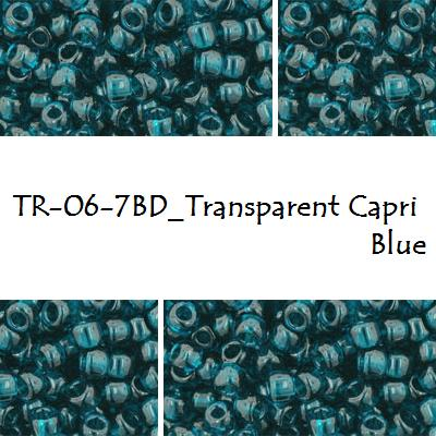 TOHO 6/0 Transparent Capri Blue (7BD), 10 g