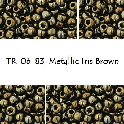 TOHO 6/0 Metallic Iris Brown (83), 10 g