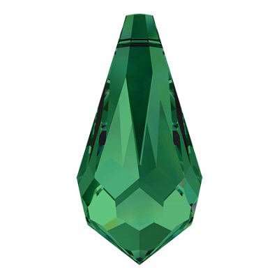Teardrop - Emerald - 11x5,5 mm, 1 ks