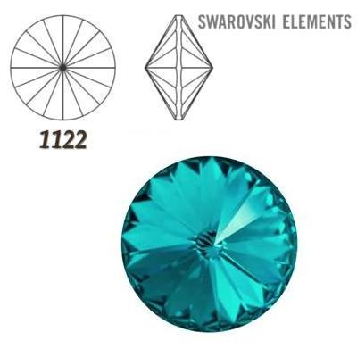 Rivoli – Blue Zircon Foiled – 6 mm, 2 ks