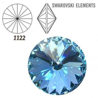Rivoli – Aquamarine Foiled – 8 mm, 2 ks