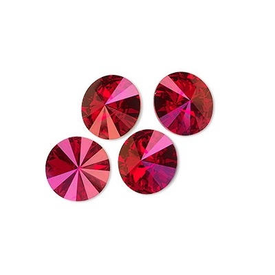 Rivoli – Light Siam Astral Pink Foiled – 8 mm, 2 ks