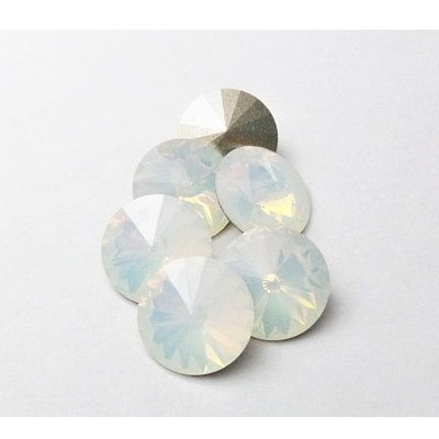 Rivoli – White Opal Foiled – 12 mm