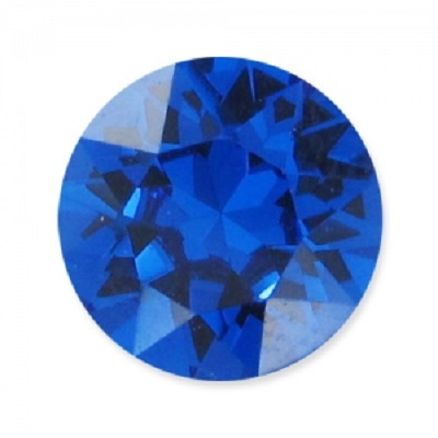 Chaton 1088 – Capri Blue Foiled – 8 mm, 2 ks