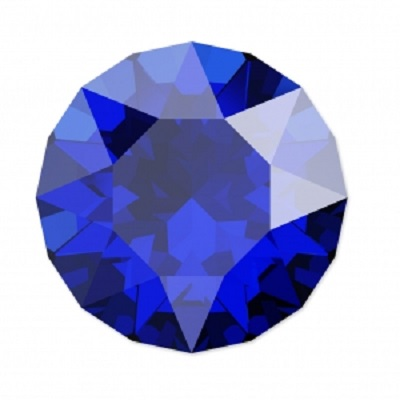 Chaton 1088 – Majestic Blue Foiled – 8 mm, 2 ks