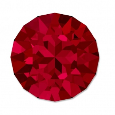 Chaton 1088 – Scarlet Foiled – 8 mm, 2 ks