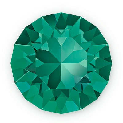 Chaton 1088 – Emerald Foiled – 8 mm, 2 ks