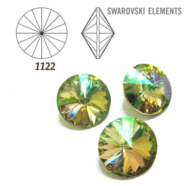 Rivoli – Crystal Luminous Green Foiled – 14 mm