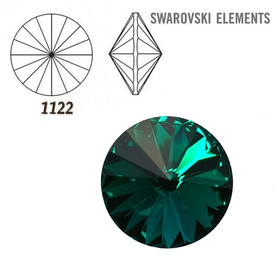Rivoli – Emerald Foiled – 8 mm, 2 ks
