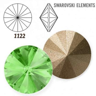 Rivoli – Peridot Foiled – 8 mm, 2 ks