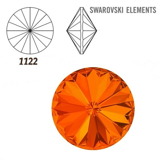 Rivoli – Tangerine Foiled – 8 mm, 2 ks