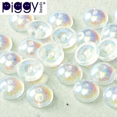 Piggy 4x8 mm - Crystal AB (00030 28701), 30 ks