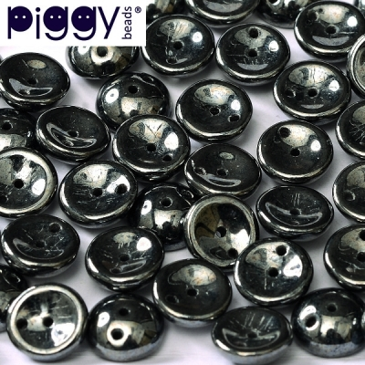 Piggy 4x8 mm - Jet Hematite (23980 14400), 30 ks