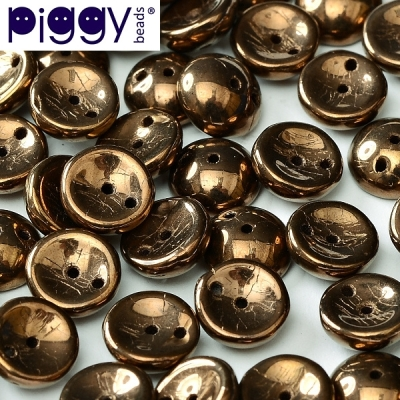Piggy 4x8 mm - Jet Bronze (23980 14415), 30 ks