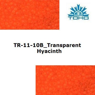 TOHO 11/0 Transparent Hyacinth (10B), 10 g