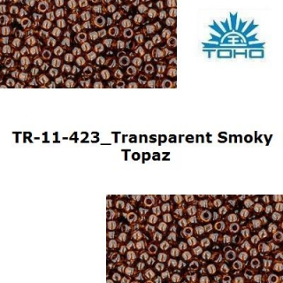 TOHO 11/0 Transparent Smoky Topaz (423), 10 g