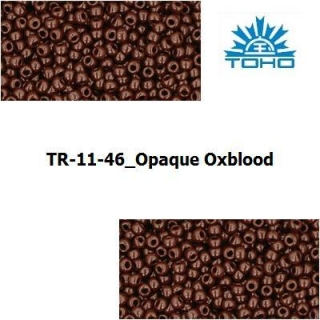 TOHO 11/0 Opaque Oxblood (46), 10 g